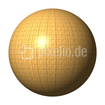 Kugel Holz mit Raster - wood ball with grid