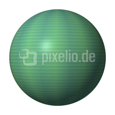 Kugel cadetblau hellgrün - ball cadetblue lightgreen