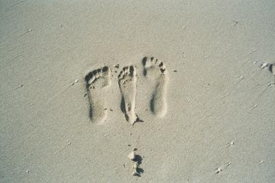 Füße am Meer