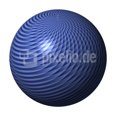 Kugel Interferenz blau hellblau - ball interefences blue lightblue