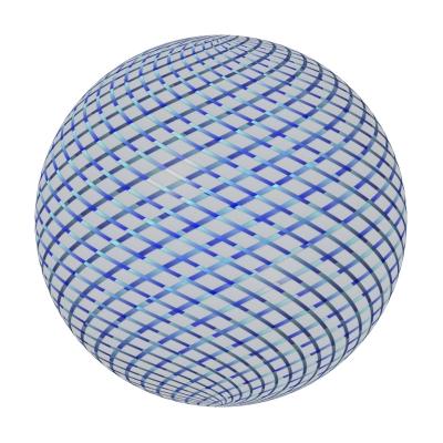 Glaskugel mit Gitternetz - glas ball with grid