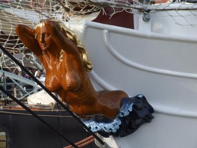 Gallionsfigur des Passagierschiffes Aphrodite