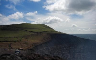 auf dem Vulkan Masaya in Nicaragua