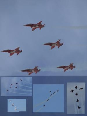 Formationsflug der Patrouille Suisse