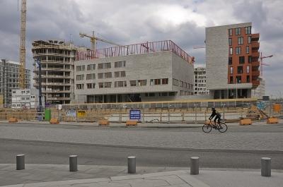 Baustelle am Großen-Grasbrook