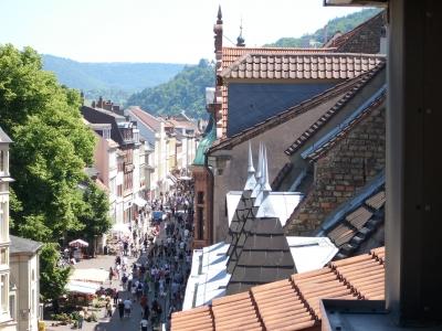 Die Heidelberger Fußgängerzone von oben...
