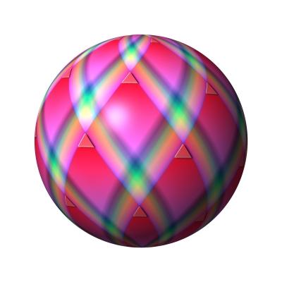 Kugel mit Karomuster - ball with grid