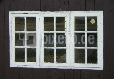Fenster einer Fischerhütte (Esehus)