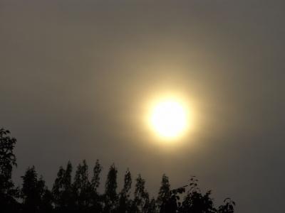 Sonnenball mit Umrandung