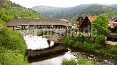 Murg-Holzbrücke bei Forbach