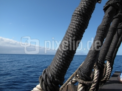 Detail eines Segelschiffes (Madeira)
