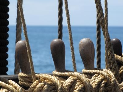Detail eines Segelschiffes (2) Madeira