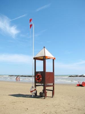 Am Strand von Rimini...