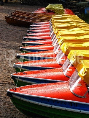 Morgenwäsche beim Bootsverleih