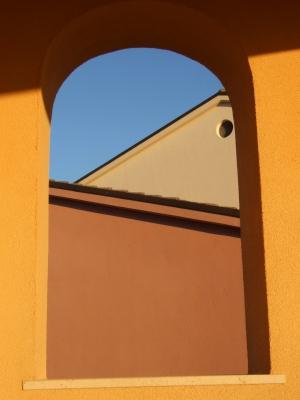 Blick auf Hausfassaden