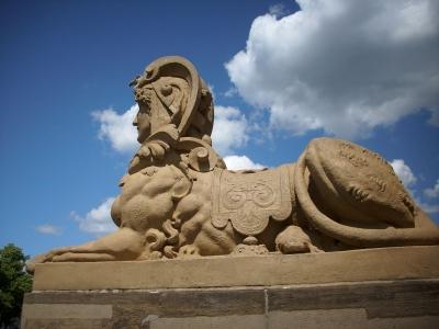 Die Sphinx am Mannheimer Wasserturm