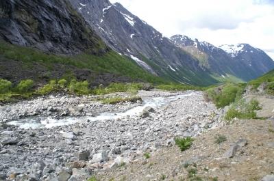 Ein Bergpanorama-in Norwegen