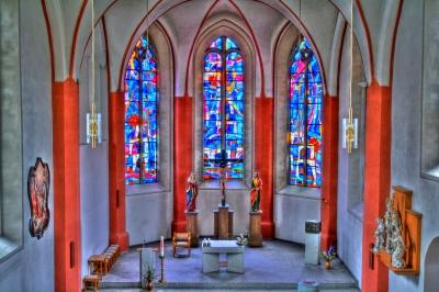 Bautzener Liebfrauenkirche von innen in HDR