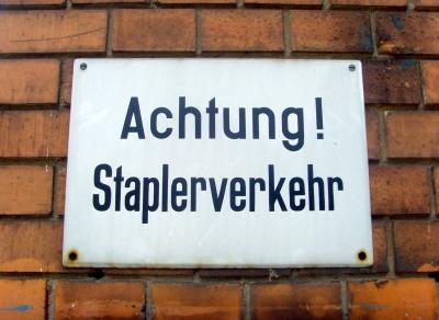 Achtung! Staplerverkehr