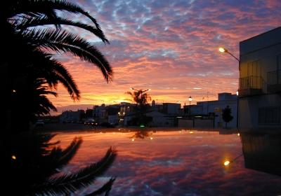 Sonnenuntergang in Sta Luzia Algarve