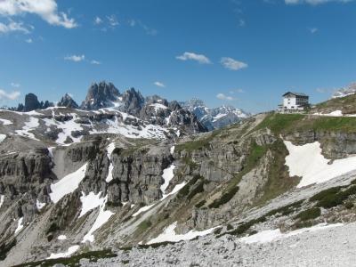 Auronzohütte im Reich der Dolomiten