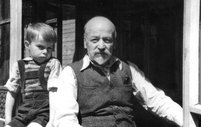 Ich mit meinem Opa