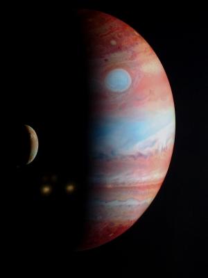 Jupiter und Jupitermond Io