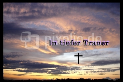 In tiefer Trauer
