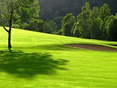 Abendstimmung auf dem Golfplatz