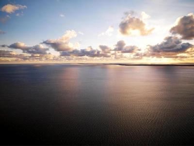 Nordsee - Dämmerung am Horizont  - Luftbild