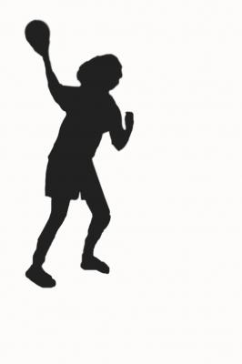Handballerin Schatten
