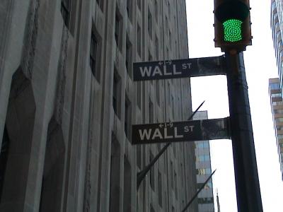NY, Grünes Licht in der WallStreet
