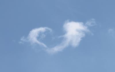 Ein Herz aus einer Wolke