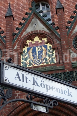 Stadtwappen am Rathaus
