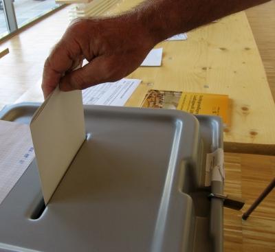 Wahl 2009, Stimmzettelabgabe