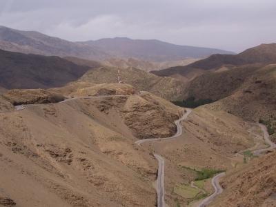 Passstraße im Atlasgebirge/Marokko