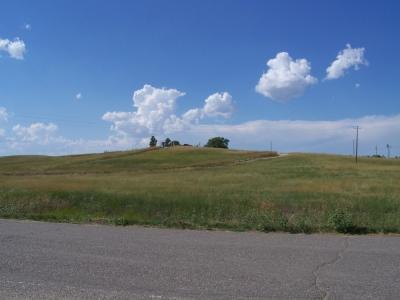 Friedhofshügel der Sioux in Wounded Knee SD