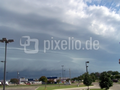 Wetter-Wolkenfront im Aufbau