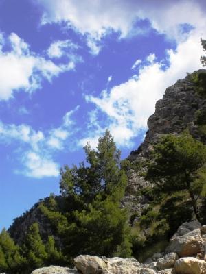 Bergstrasse auf Mallorca