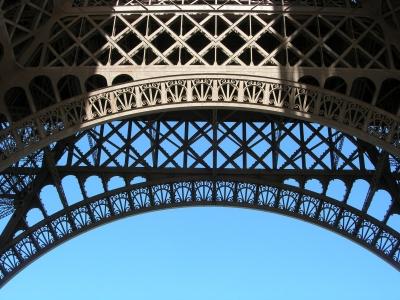 Eiffelturm - Detailaufnahme des filigranen Stahlkolosses