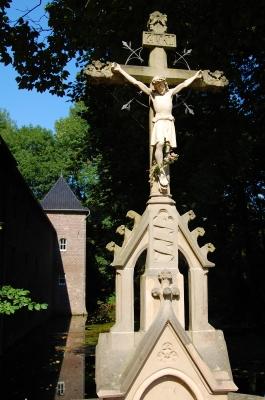 altes Steinkreuz bei Schloss Paffendorf zu Bergheim