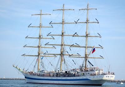 """Russisches Segelschiff """"Mir"""" (Frieden)"""