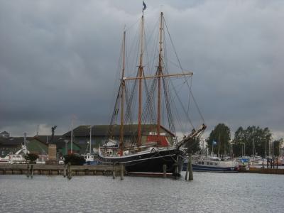 Windjammer im Hafen von Struer/Dänemark