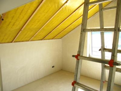 Neubau - Dachschrägen-Isolierung