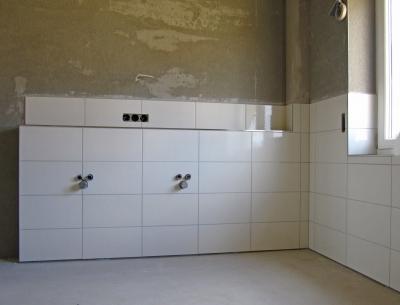 kostenloses foto: neubau badezimmer fliesen mit putz - pixelio.de, Badezimmer