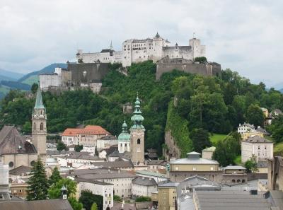 Salzburg - Altstadt mit Festung Hohensalzburg