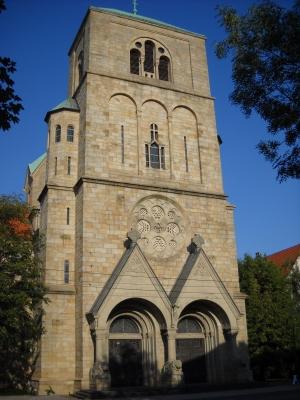 Wanne-Eickel - Glockenturm der Pfarrkirche St. Joseph (Löwenkirche)