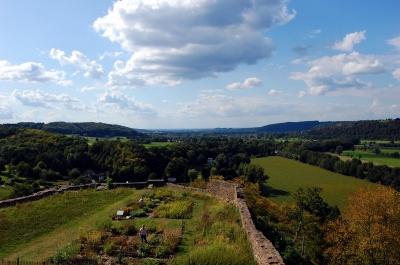 Blick von der Burgruine Blankenberg ins Tal der Sieg #2
