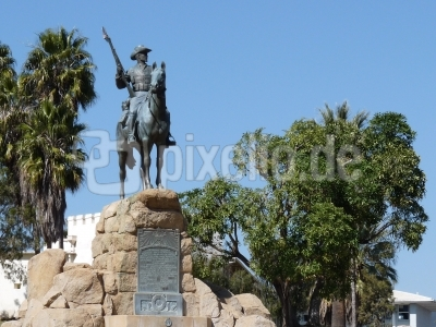deutsches Reiterdenkmal in Windhoek/Namibia