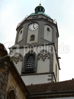 Turm Frauenkirche Meissen mit Glockenspiel